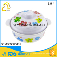 cheap practical 6 inch melamine round plastic dinner lid bowl