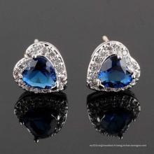 Boucles d'Oreilles CZ Cubic Zirconia Diamond Zircon Silver