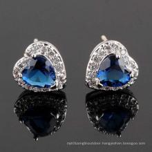 CZ Cubic Zirconia Diamond Zircon Silver Earrings