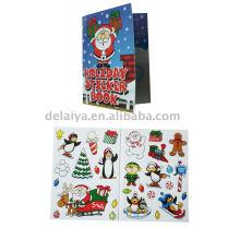 Colour Christmas sticker set or Christmas greeting card