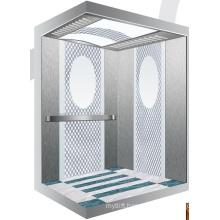 Aksen Mirror Etched Machine Room Less Passenger Elevator J0345
