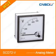 Medidor del panel del voltímetro de la CA análoga (96 * 96m m) Medidor del panel del análogo 72 del CE Corriente de la CA 20 / 5A