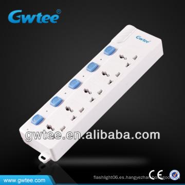 10A 2500W salida eléctrica con interruptor independiente