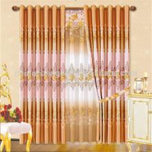 Hotsale design cortinas de laranja impressas de luxo para moradia