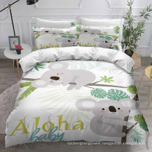 3D Printed Bedding Set with Koala, Also Suitable for Duvet Cover