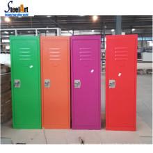 Armário de armazenamento de aço pequeno de crianças coloridas