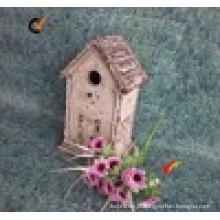 Rústico, antigas, decorativo, madeira, birdhouse