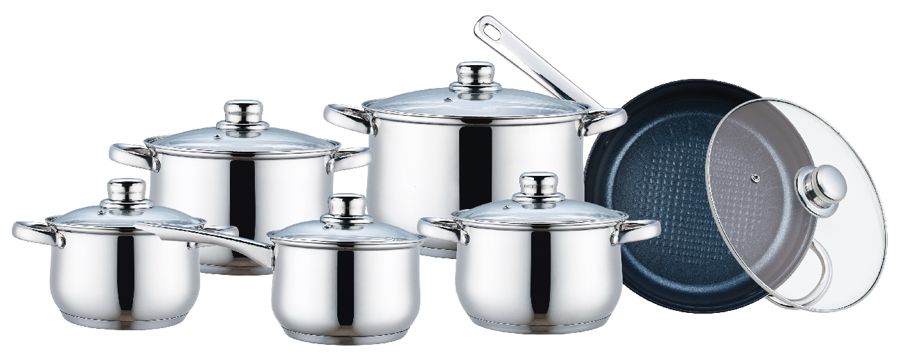 Stainless Steel Cookware Mirror Polished