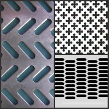 Grille métallique perforée en métal galvanisé, grille perforée en aluminium