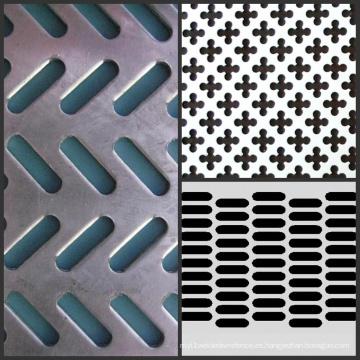 Malla de metal perforada galvanizada, rejilla de aluminio perforada del acoplamiento del acoplamiento del metal