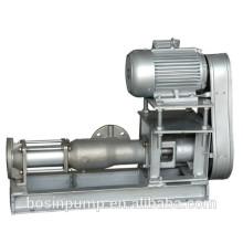 Saving room belt and pulley driven progressive cavity mono screw pumps for food marine