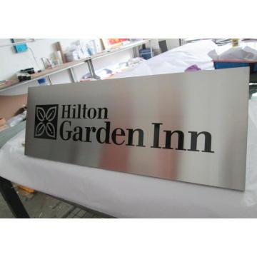 Hotel Zimmer Bürogebäude Wand geätzten Cast graviert gerichtete Warnung Sicherheit Metall Aluminium Satin gebürstetem Plaques