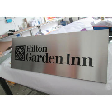 Hotel Room Office Building Wall Etched Cast Engraved Directional Warning Safety Metal Steel Aluminum Satin Brushed Plaques