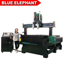 Jinan Blue Elephant 1530 Multi-Head CNC Router Machines for Wood Carving Mirror Frame