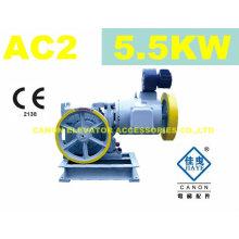 5.5 kW AC2 máquina de tração para elevador