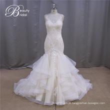 Vestido De Noiva Multicamadas Sereia