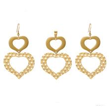 S-370 xuping 24k moda coração em forma de conjuntos de jóias