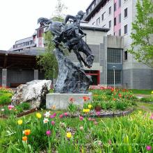 estátua de bronze remington