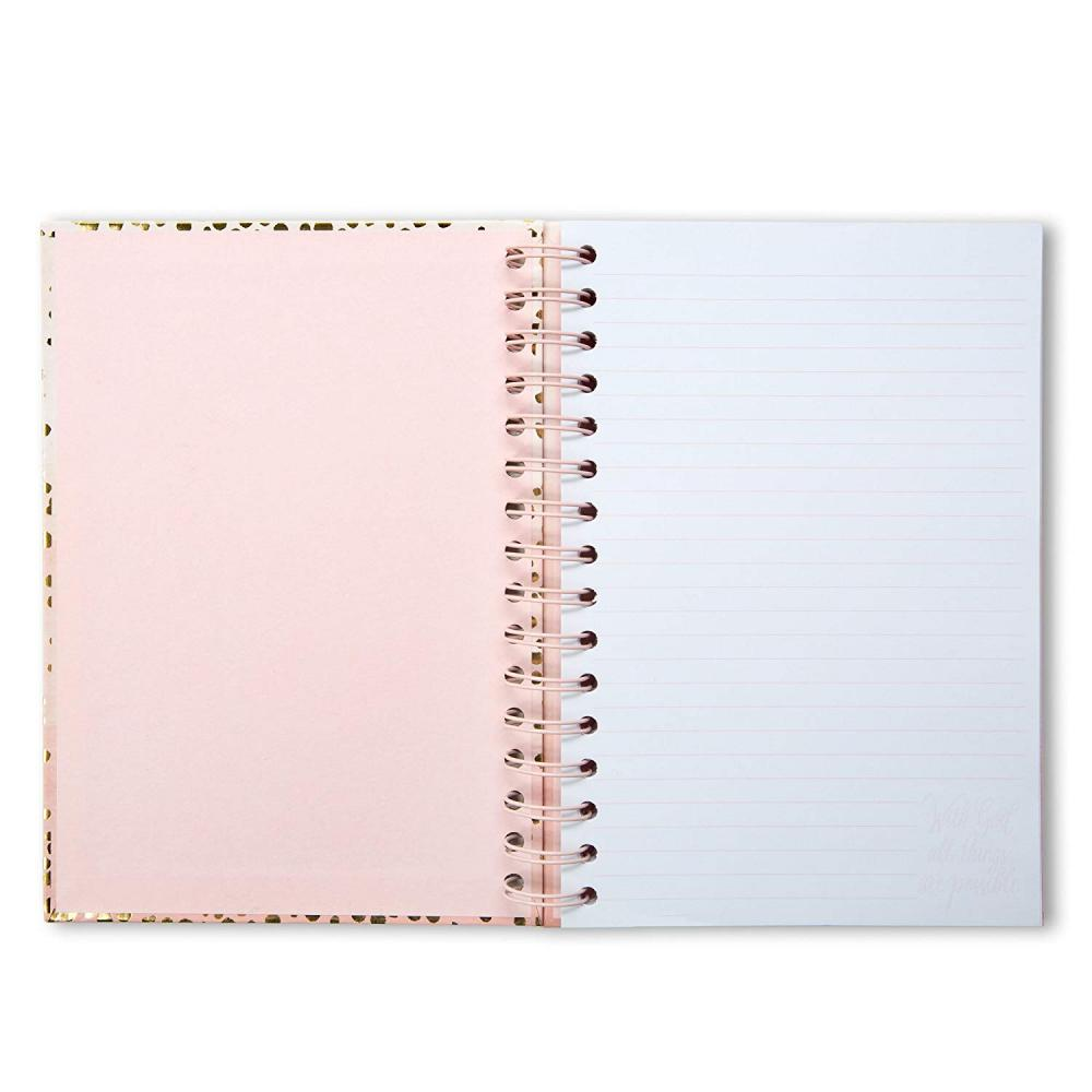 Gold Foil Dots Cover Spiral Notebook 1