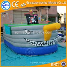 Customized halloween pirata navio saltadores inflável jumper para crianças