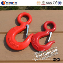 Carbon Steel Lifting Us Type S320 Drop Forged Eye Hook with Safety Latch