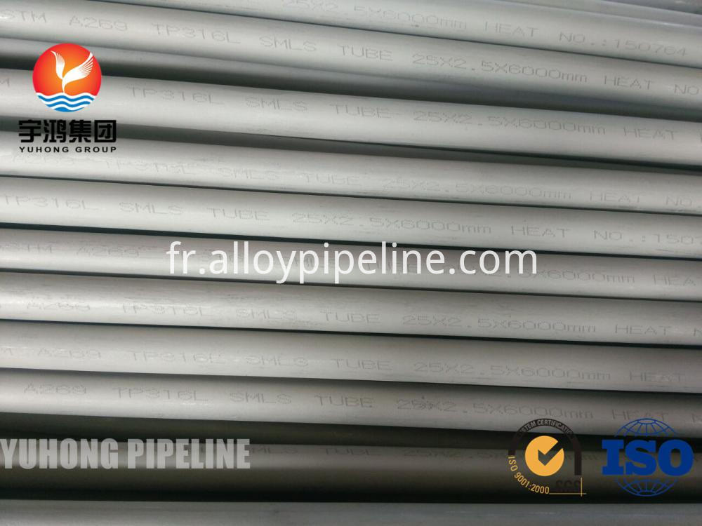 Seamless Tube A269 TP316 316L for heat exchanger