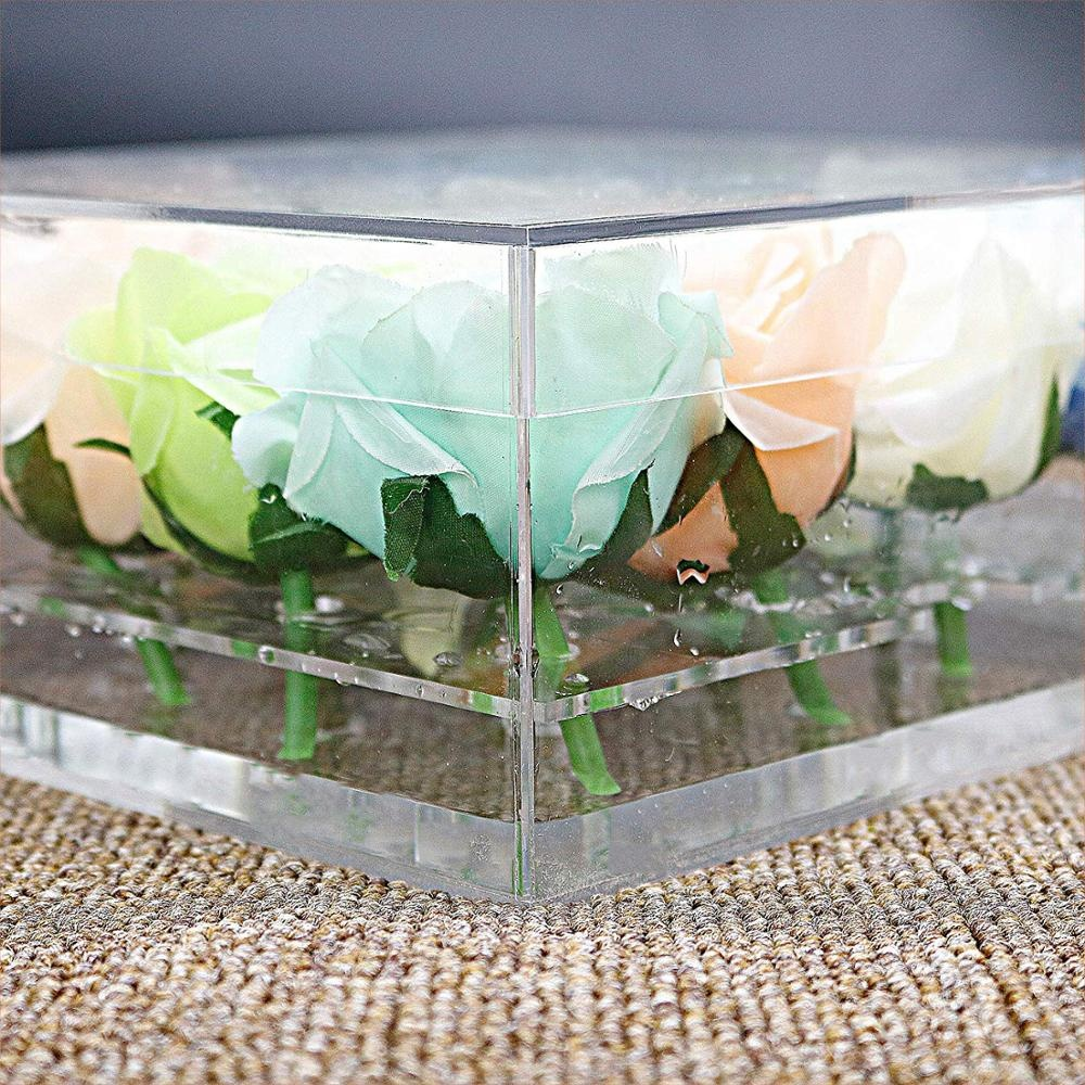 Acrylic Clear Rose Flower Box 16 Slots