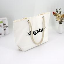 Recyclable Ladies Oversized Big Nylon Fashionable Women Cotton Custom Canvas Tote Bag