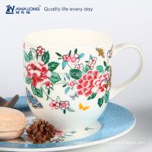 Florale keramische königliche kaffeetasse Porzellan-Haushaltsteebecher