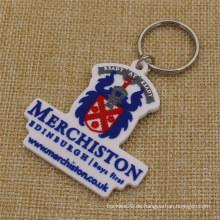Kundenspezifische Merchiston Schloss-Schule weiches PVC Keychain für Kursteilnehmer