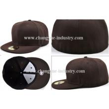 Personalizado en blanco flex fit gorra visera plana