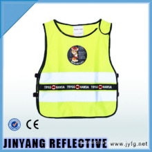 high visibility low elastic yarn reflective security vest for children