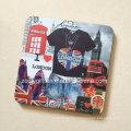 Square Printed MDF Cork Coffee Coaster Waterproof Coaster