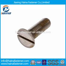 На складе Alibaba China Supplier DIN7969 Углеродистая сталь / Нержавеющая сталь Шлиц с потайной головкой с потайной головкой с оцинкованным / BO