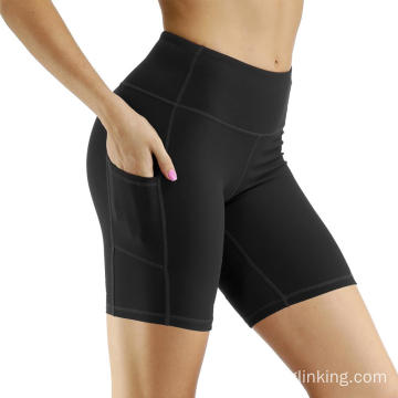 Out Pocket Non-Through-Through Yoga Shorts