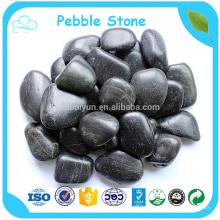 1-2cm Polido Branco Preto Natural Pebbles