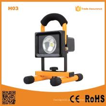 H03 impermeável 10W recarregável luz de inundação LED