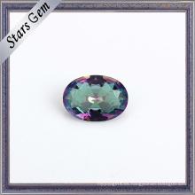 Vidrio de cristal del color del arco iris de galvanoplastia hermoso para la joyería