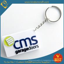 Porte-clés en caoutchouc PVC en caoutchouc de marque personnalisée en gros de Chine en haute qualité