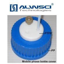 Análise laboratorial da cobertura da garrafa da fase móvel