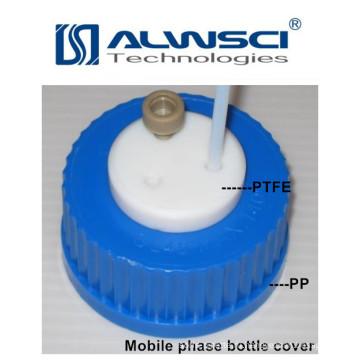 голубой винтовой крышкой из фторопласта, материала PP для реагента бутылки