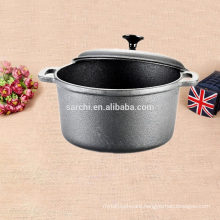 Camping Cast iron soup pot with lid