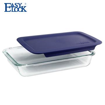 EASYLOCK Ovenproof Borosilicate Glass Baking Sheet in Oven