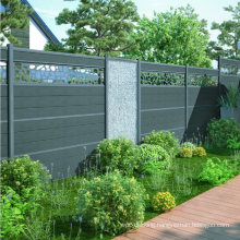 WPC Fence Outdoor Garden Privacy Composite Board Waterproof Fencing Trellis