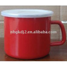 enamel milk pot