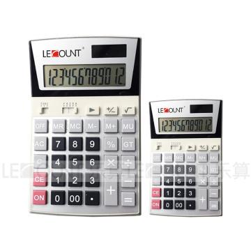 Calculatrice à 12 chiffres de Dual Power Office avec grand écran LCD (LC206)