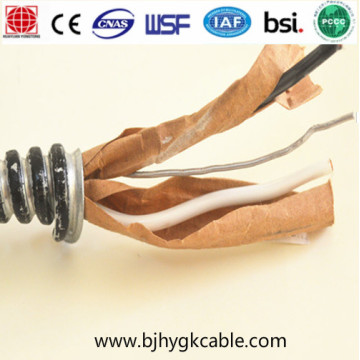 Cable blindado Cable de aluminio enclavado Cable de 600V Mc AC Bx Cable