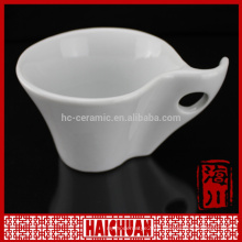 HCC ceramic bulk coffee mug with spoon in handle