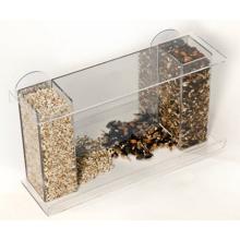 High Quality Acrylic Window Bird Feeder with Feed Tray