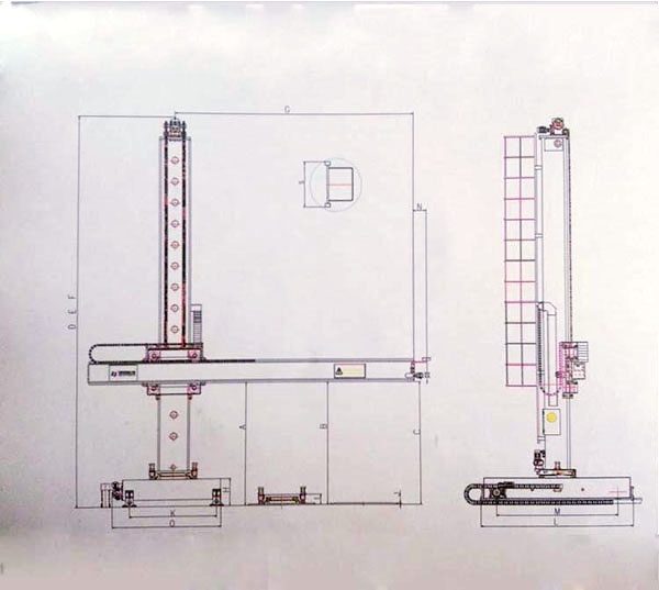 Super Heavy Square guide Rail Welding Column and Boom (5)